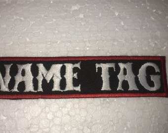 Custom Embroidered Name Tag