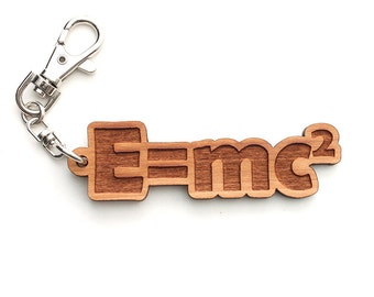 E = mc2 Key Chain - Einstein's Theory of Special Relativity Backpack Clip Science Gift for Physics Major by Nestled Pines Workshop