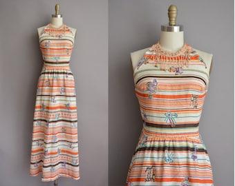70s bohemian vintage maxi dress by Saba / vintage 1970s dress