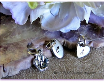 Stainless steel or pewter monogram tag to add to your jewelry design