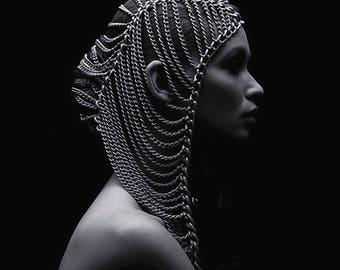 Cairo Chain Hoodie. Head Chain. Burning Man.
