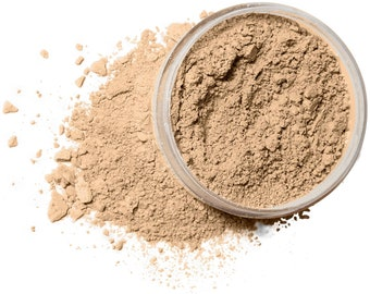 TAN NEUTRAL Organic Mineral Foundation | Vegan Makeup Powder |  Acne Safe-Oily Skin  | Cruelty Free | 10 Gram/30 Gram Sizes