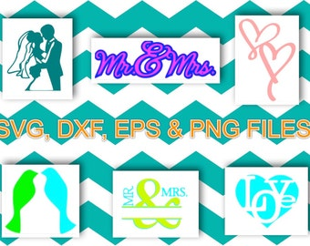 Wedding Svg, Dxf, Eps, PNg files