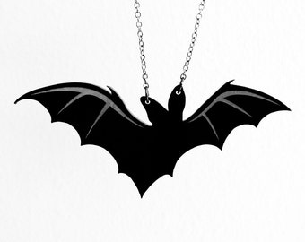 Lone Bat Necklace - Laser Acrylic Cut (C.A.B. Fayre Original Design)