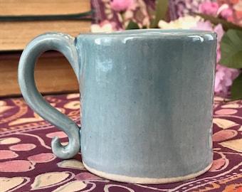 Small Blue Porcelain Mug