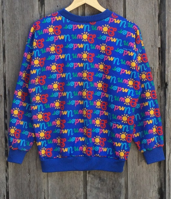 Vintage Designer Crew Art 90's Australian Australia blue Rare Pullover Pop Sweatshirt print Down KEN DONE full Under Neck dqwnO0C