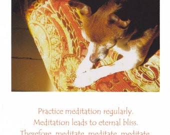 Meditation large blank greeting card