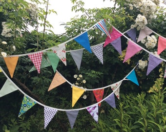 30ft Extra Long party Bunting available to ship /fabric garland / banner - 9m long, wedding decoration,