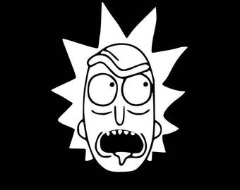 Decal Addiction, INC | Rick And Morty Mean Face WHITE Vinyl Car/Laptop/Window/Wall Decal