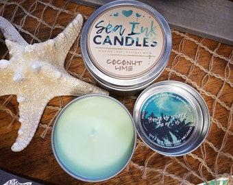 Coconut Lime | Sea Ink Candles
