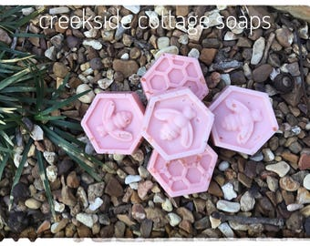 Bee Guest Soaps, Picked Cotton, Salted Grapefruit or Lavender.  Bee and Honeycomb Guest Soap Favors, 5.