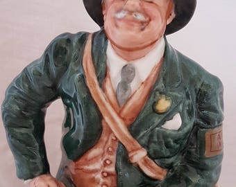 Royal Doulton Air Raid Precaution Warden HN4555 - Ltd Ed Character Figurine - First Quality and Perfect