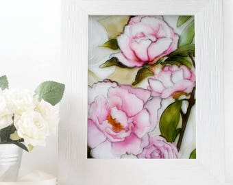 The flowers of the dawn. Рainted on glass. FREE SHIPPING