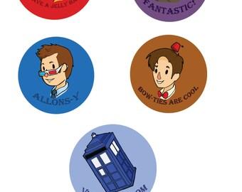 Button Set 4: Dr. Who