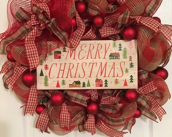 Christmas Wreath, Holiday Wreath, Classic Christmas Wreath