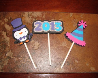 New Year Cupcake Toppers - Party Decorations-Party Supplies