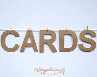 Cards Kraft Brown Bunting Garland Wedding Cards Sign