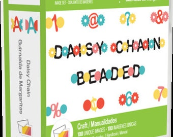 DAISY CHAIN FONTs - New CARTRiDGE for your CRICuT MACHiNE !  EXPLORE and EXPRESSiON