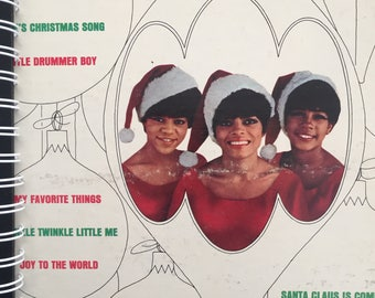 for the The Supremes - Merry Christmas DIANA ROSS MOTOWM  fan!  Vinyl Album Cover Notebook