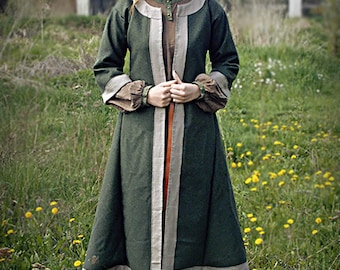 Early medieval coat for woman, slav, rus, reenactment