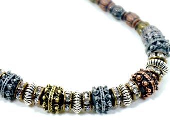 Mixed metal necklace | Mixed metal choker | Great gift | FREE SHIPPING in US