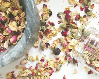 Bath Soak with roses,Flower Bath,Botanical Bath,Natural Skincare,Herbal Gifts for Her, Holistic Gifts for Him,Soap Making