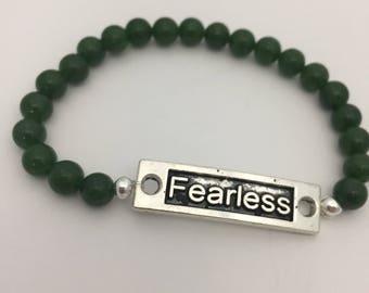 Fearless beaded bracelet