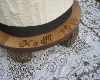 Rustic Cake Stand, Log Cake Stand, Wood Cake Stand, Personalized Cake Stand, Rustic Wedding, Rustic Cupcake Stand, Wedding Cake