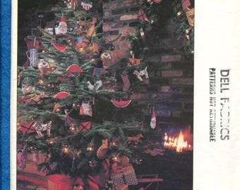 1980's Vogue 2591 Holiday Tree Ornaments Pattern UNCUT