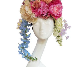 ANTOINETTE - Couture Floral Flower Headdress