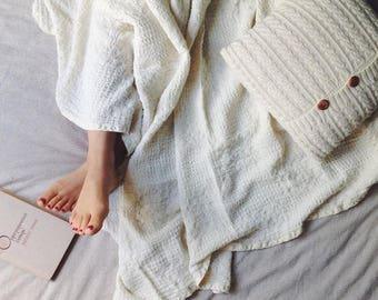 Linen summer blanket | throw blanket | bed cover | coverlet | bedspread