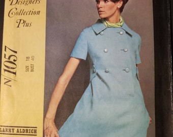 Vintage McCall's New York Designer's Collection Plus pattern 1057, 1960s misses dress pattern