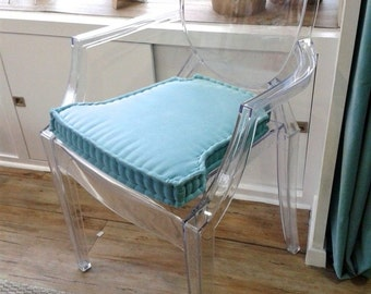 Handmade cushion Ghost Chair (whit armchairs), Kirkby Design fabrics