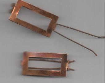 2 Vintage Copper Barrettes