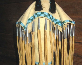 Native American Lakota Sioux Made Beaded Doll