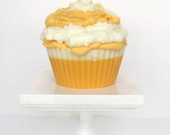 Jumbo Creamsicle Cupcake Candle