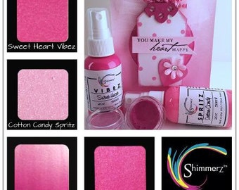 Shimmerz Paint Company  BLUSH TONEZ     Superior Shimmering Watercolors and Spray Collection