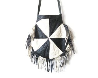 Bag fringed leather vintage