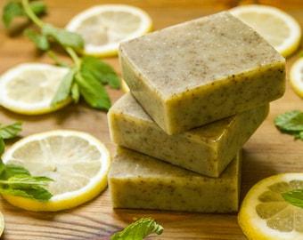 Fresh Israeli Limonana Handmade Soap, with Lemon and spearmint essential oils