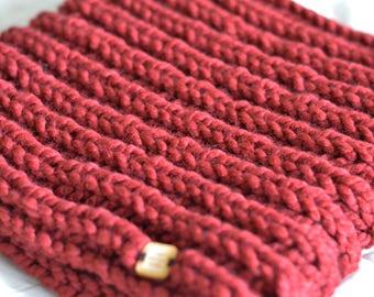 Hand Knit Chunky Cowl   Handmade Chunky Infinity Scarf   'Cloud' Cowl