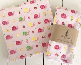 Baby Receiving Blankets | Snails Swaddling Blanket, Stroller Blanket, Flannel