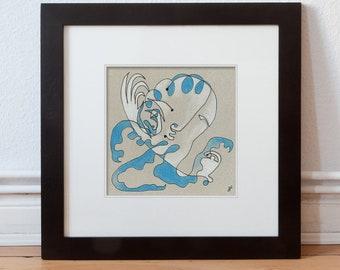 Art, original 15/15 cm (5.9/5.9 inch)