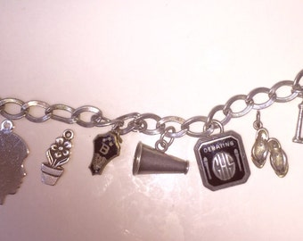 Retro Sterling Charm Bracelet Loaded with Fun Vintage Charms