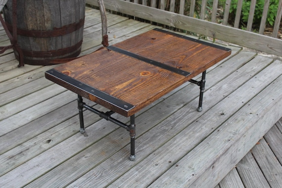 Charmant Pipe Leg Coffee Table, Industrial Coffee Table, Reclaimed Wood, Vintage  Table, Rustic Coffee Table, Industrial Table,