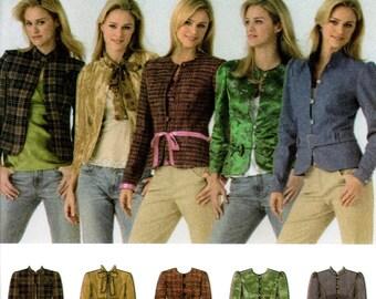 Simplicity 4489 Princess Seam Jacket Size 12 14 16 18 20 Uncut Sewing Pattern 2006