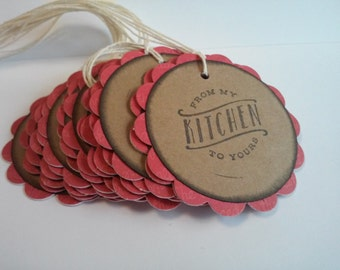 From My Kitchen Tags, Baking Labels, Baking Tags, Baked goods tags, Set of 15