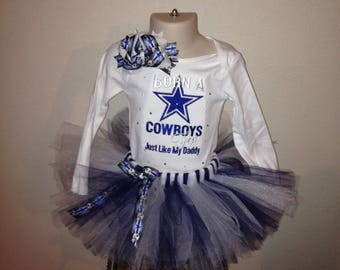 Dallas Cowboy Tutu set Embroidered shirt