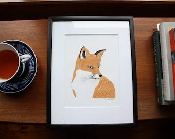 Fox silkscreen print