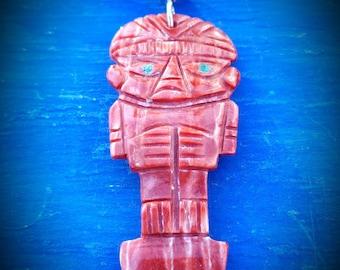 peruvian tumi pendant cerimonial knife new ethnic inca necklace red spondylus tribal gypsie shamanic spiritual jewelry tumi chimu tumi peru