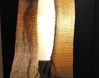 Beautiful orange ombre scarf.